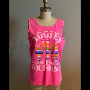 Aggie's Pink Cactus Comfort Colors Graphic Tank